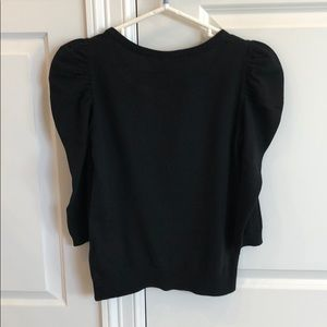 H&M Tops - New H&M puffy shoulder fitted pullover knit top